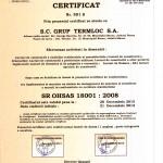 certificat grup termloc 18001-1
