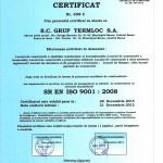 certificate grup termloc 9001-1